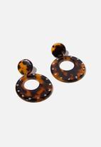 Cotton On - Tokyo earrings - brown