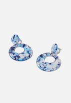 Cotton On - Tokyo earrings - blue
