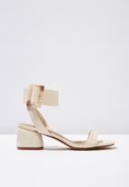 Cotton On - Faux leather buckle sandal - neutral