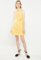 Vero Moda - Mabena short sleeve short shirt dress - yellow
