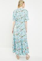 Vero Moda - Mava wide woven maxi dress - blue