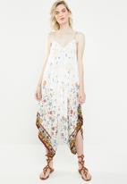 Revenge - Floral spaghetti strap jumpsuit - white