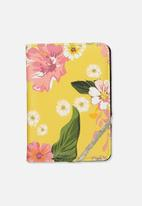 Typo - Rfid passport holder - mustard floral