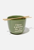 Typo - Novelty noodle bowl - passion not cooking