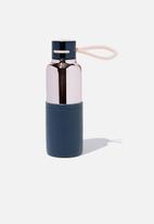 Typo - The loop metal drink bottle - blush & navy