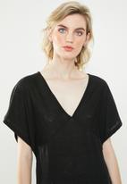 Jacqueline de Yong - Lora short sleeve dress - black