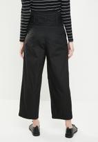 Jacqueline de Yong - Donna paperbag wide leg pants - black
