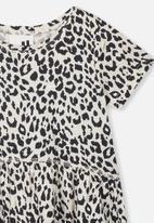 Cotton On - Freya short sleeve dress - black & white