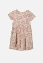 Cotton On - Freya short sleeve dress - peach