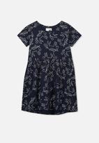Cotton On - Freya short sleeve dress - navy
