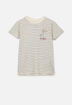 Cotton On - Penelope short sleeve tee - black & cream
