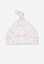 Cotton On - The baby beanie - pink & grey