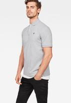 G-Star RAW - Dunda short sleeve polo tee - grey