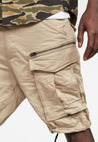 G-Star RAW - Rovic zip relaxed fit shorts - beige