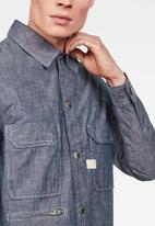 G-Star RAW - Xpo utility straight long sleeve shirt - blue