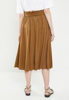 Superbalist - Midi button through skirt - brown