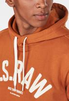 G-Star RAW - Graphic 14 core hooded sweater - orange