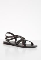 ONLY - Mandala crossover sandal - black