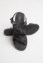 ONLY - Mandala crossover sandal - black
