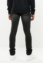 S.P.C.C. - Feather panther jeans - black