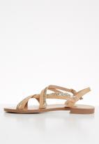 ONLY - Mandala crossover sandal - neutral & gold