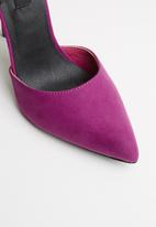 MHNY by Madison - Heidi side bow stiletto heel - purple