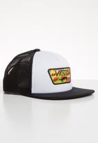 Vans - Full patch trucker boys cap - white & black