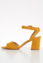 ONLY - Amanda heeled sandal - yellow