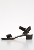 ONLY - Apple midi heel patent sandal - black