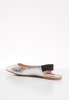 ONLY - Blondie heel metallic ballerina - silver