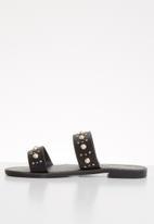 ONLY - Mandala pearl sandal - black