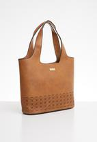 Pierre Cardin - Astrid cut-out hobo bag - brown