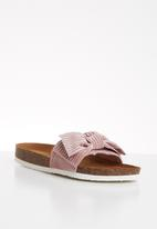 ONLY - Mathilda bow slip on - pink