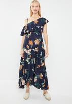 Revenge - Chiffon off shoulder maxi - multi