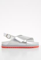 Vero Moda - Rita leather sandal - silver