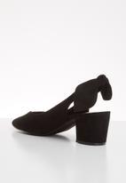 Vero Moda - Faux leather slingback block heel - black