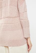 Jacqueline de Yong - Sorbet 3/4 sleeve pullover knit - pink