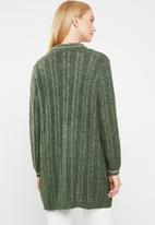 Jacqueline de Yong - Mynte long sleeve cardigan - green