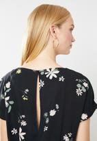 Jacqueline de Yong - Star floral jumpsuit - black