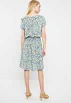 Jacqueline de Yong - Logan short sleeve dress - grey