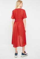 Jacqueline de Yong - Povla long dress - red