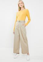 Jacqueline de Yong - Nevada stripe jersey top - yellow