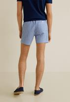 MANGO - Seerblue swimming trunks - blue & white