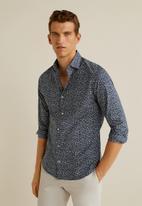 MANGO - Benito shirt - navy & white