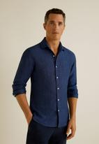 MANGO - Parrot shirt - navy
