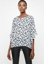 Revenge - Volume sleeve printed blouse - multi
