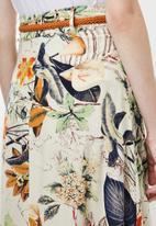Revenge - Floral belted maxi skirt - multi