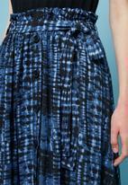 Superbalist - Tie dye button through midi skirt - blue