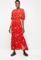 Vero Moda - Mava wide woven maxi dress - multi