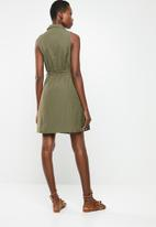 Vero Moda - Mabena  short shirt dress - green